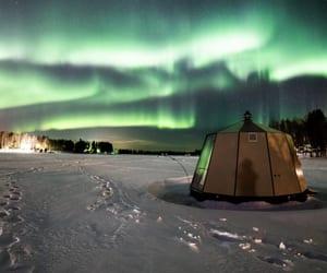 finland, igloo, and northern lights image