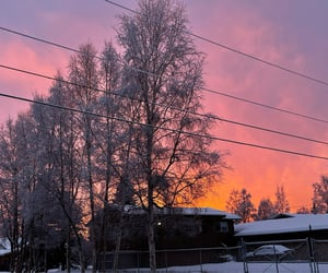alaska, orange, and pink image