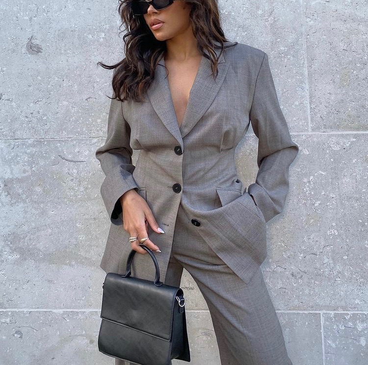 grey blazer, street style, and everyday look image