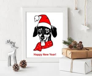 etsy, dog lovers decor, and holiday gift image