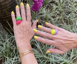 fun, nails, and yellow image