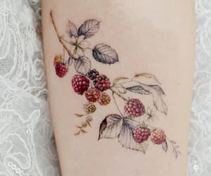 tattoo, berries, and art image