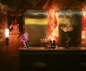 clutter, mirror, and smoke image