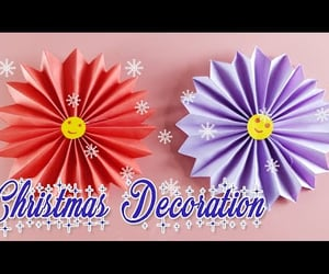 christmas, flower, and paper crafts image