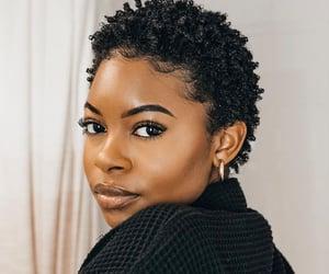 black woman, short hair, and TWA image