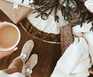 christmas tree and coffee image