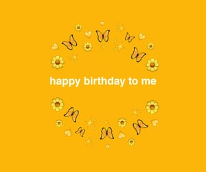 birthday, text, and yellow image