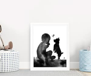 etsy, gift for boys, and dog silhouette image