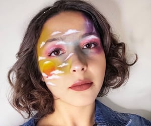 face paint, makeup artist, and eyeshadow image
