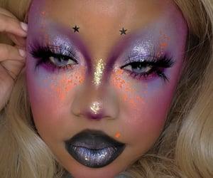 eyeshadow, makeup, and bright makeup image