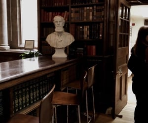 books, library, and dark academia image