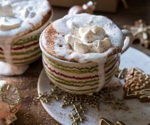 christmas, coffee, and christmas cookie image