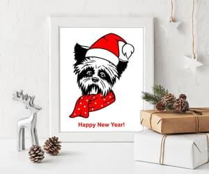 etsy, yorkshire print, and hello 2021 dog image
