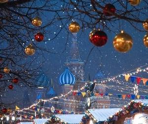 christmas, light, and moscow image