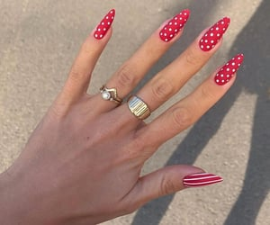 acrylic, long nails, and manicure image