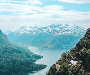 climbing, norway, and summer image