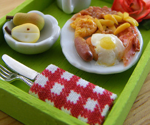 bacon, coffee, and cutlery image