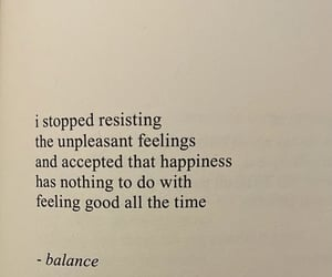 acceptance, balance, and lessons image