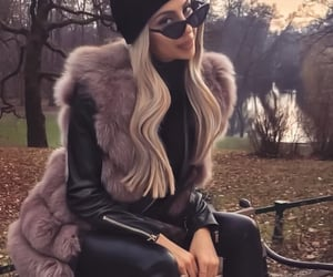 autumn, boots, and fur image
