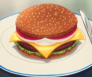 anime, burger, and burgers image