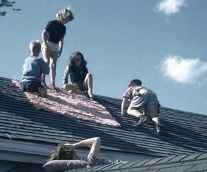 grunge, rooftop, and love image