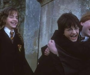 hermione granger, the golden trio, and harry potter image