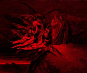 art, black, and gustave dore image