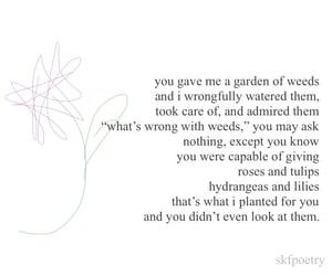 flower, sad, and writing image