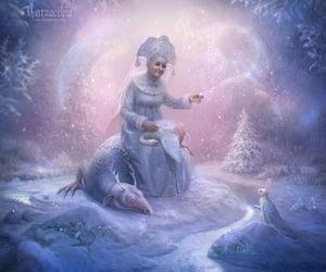 digital art, snow, and winter image