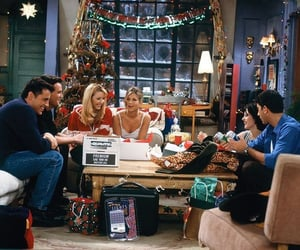 friends, christmas, and chandler bing image