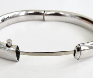 etsy, silver bangle, and etched bangle image