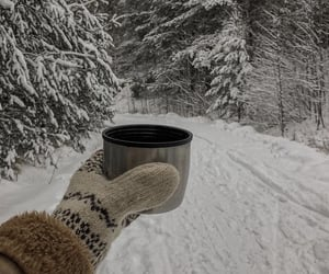 coffee, snow, and winter image