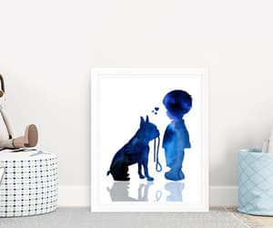 boston terrier, boston terrier art, and black watercolor image
