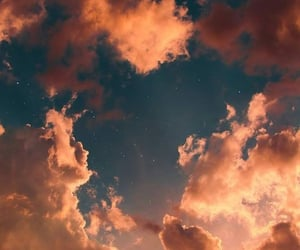wallpaper, sky, and clouds image