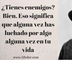 frases, frases en español, and enemigos image