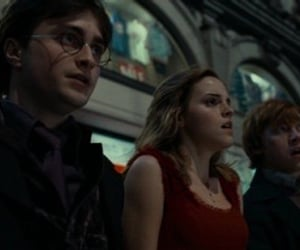 hermione granger, rupert grint, and the golden trio image