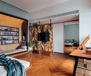 books, home decor, and interior design image