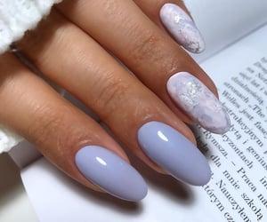 lavender, pretty, and unhas image