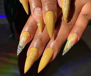 art, unique nails, and beauty image