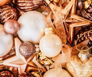 gold, Christmas time, and december image