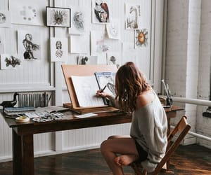 architecture, draw, and fashion image
