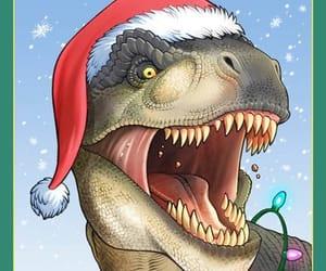 happy new year, navidad, and dinosaurio image