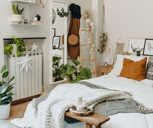 bedroom, white room, and home decore image