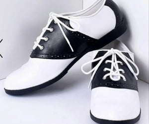 50s, black and white, and shoes image