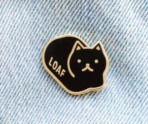 cat, pin, and lapel pin image