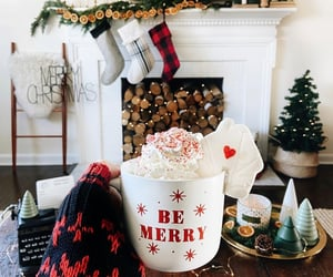 christmas, coffee, and enjoy image