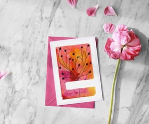etsy, flowers painting, and friendship card image