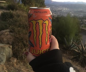 monster energy, energy drink, and monster image