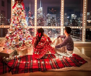 christmas, couples, and red image