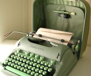 green, aesthetic, and typewriter image